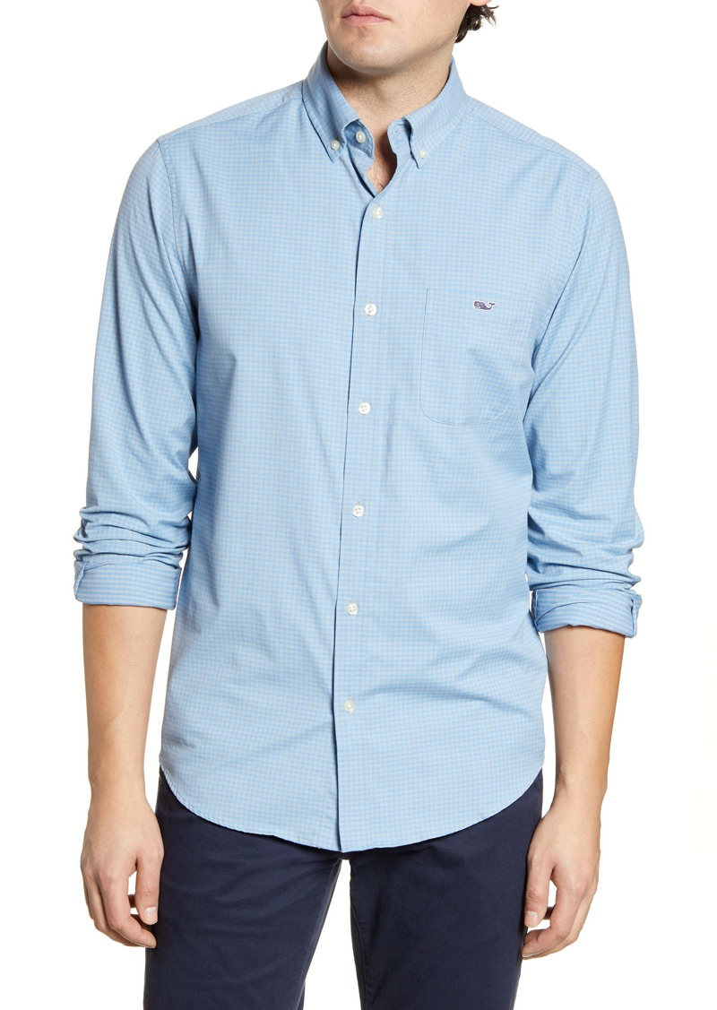 vineyard vines Tucker Classic Fit Gingham Button-Down Performance Shirt
