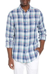 vineyard vines Tucker Classic Fit Plaid Linen Shirt