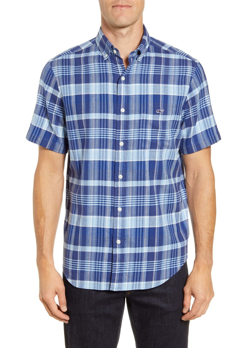vineyard vines Tucker Classic Fit Plaid Short Sleeve Button-Down Shirt