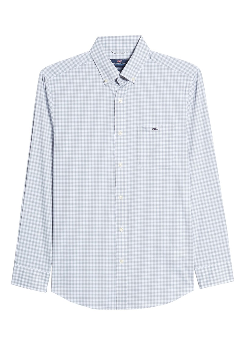 vineyard vines Tucker Evernia Classic Fit Check Button-Down Performance Shirt