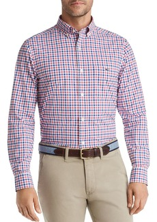Vineyard Vines Tucker Performance Bermuda-Check Classic Fit Button-Down Shirt