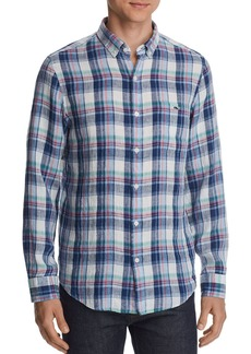 Vineyard Vines Tucker Plaid Linen Classic Fit Button-Down Shirt
