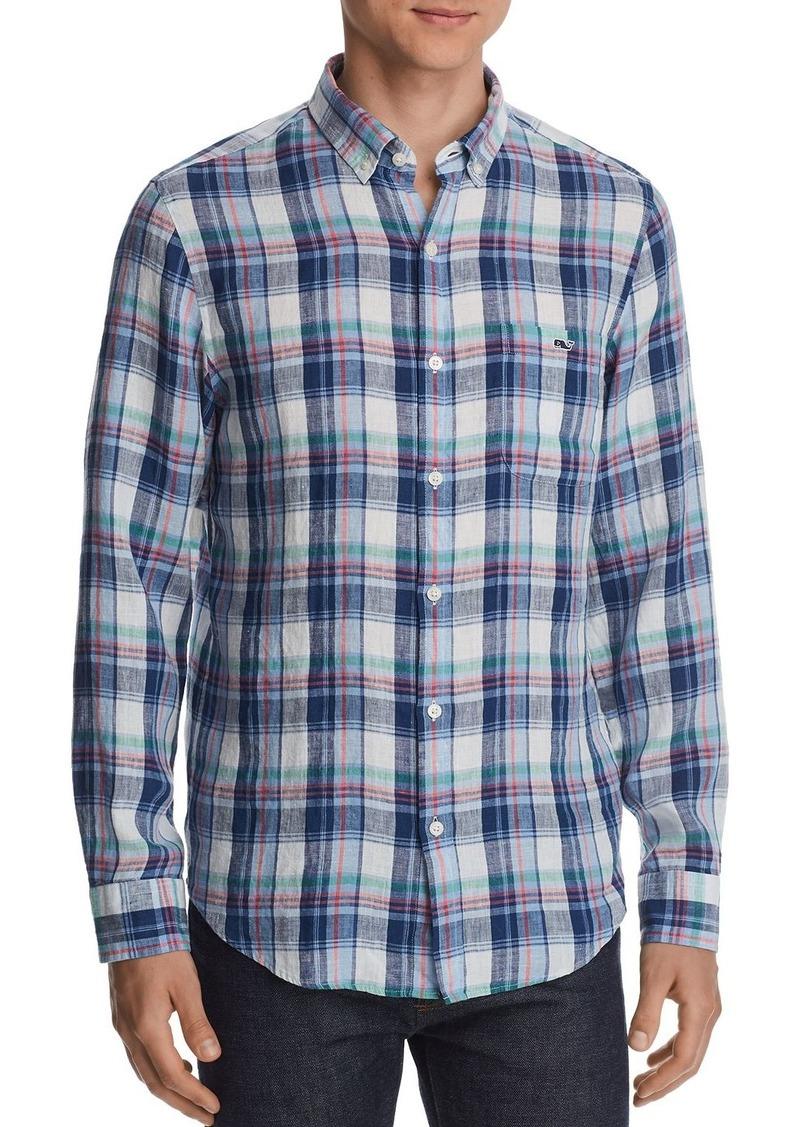 Vineyard Vines Tucker Plaid Linen Classic Fit Button-Down Shirt