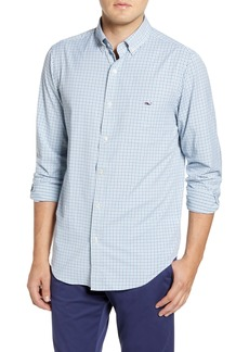 vineyard vines Tucker Classic Fit Tattersall Button-Down Performance Sport Shirt
