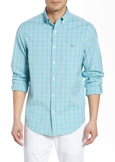 vineyard vines Tucker Regular Fit Windowpane Stretch Shirt