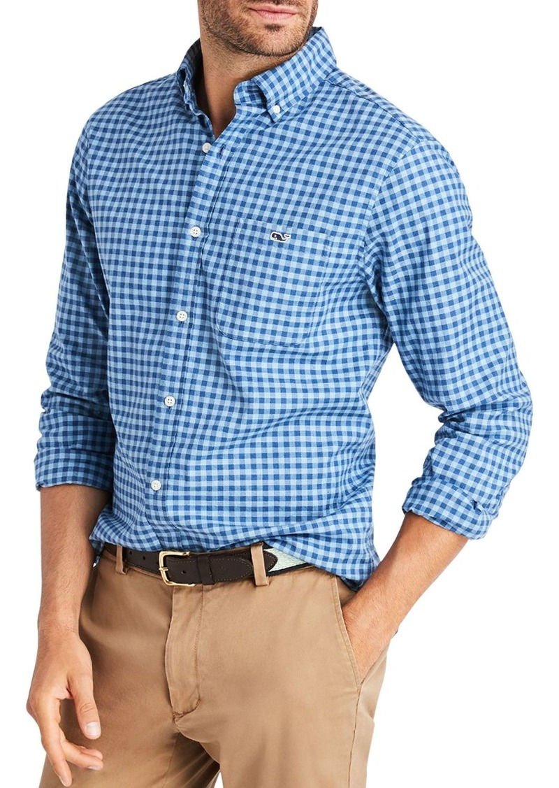 Vineyard Vines Twill Tucker Check-Print Classic Fit Button-Down Shirt