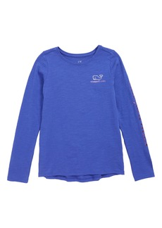 vineyard vines Two-Tone Foil Whale Tee (Little Girls & Big Girls)