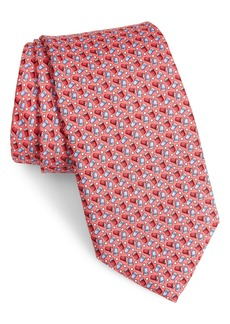 vineyard vines USA Cup Print Silk Tie