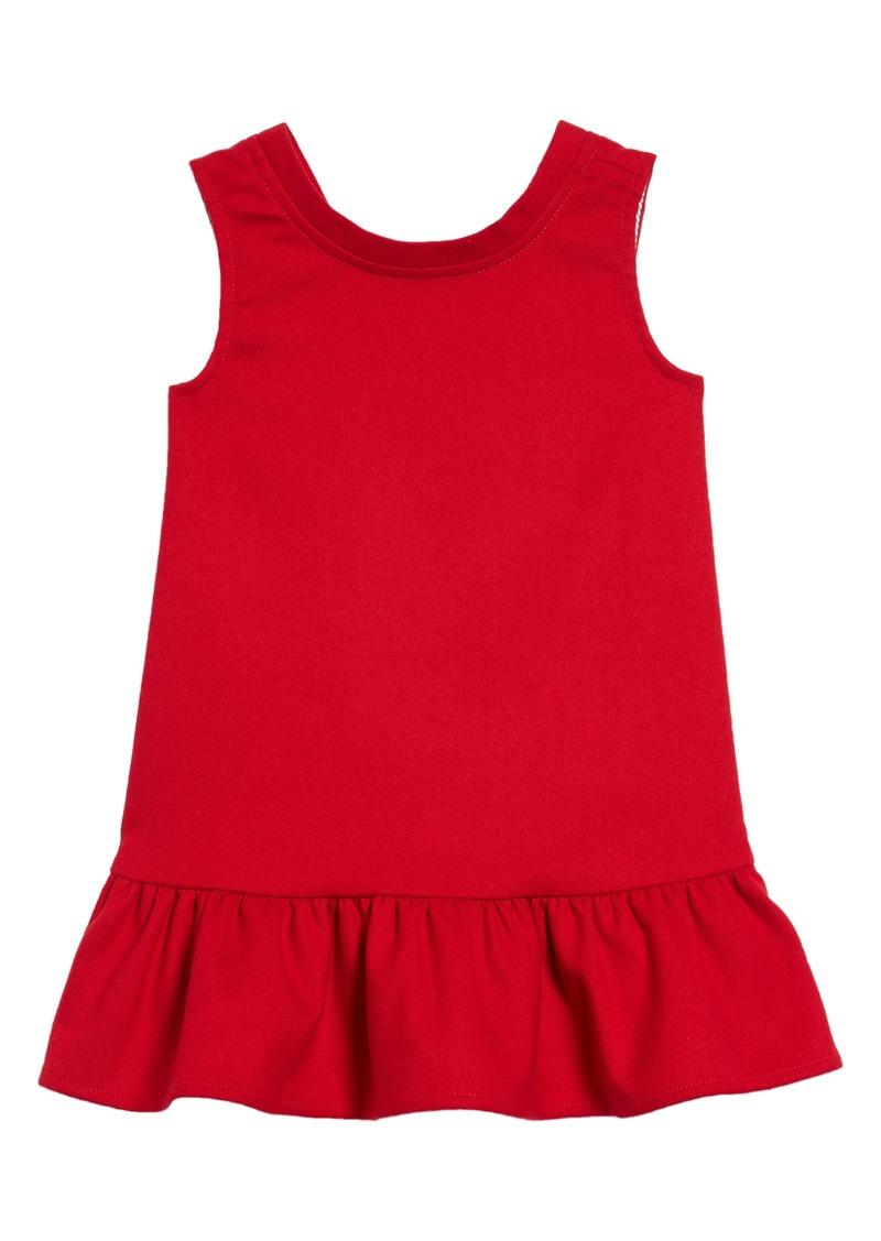 vineyard vines V-Back Ponte Dress (Toddler Girls)