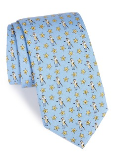 vineyard vines Vanderbilt Star-V Silk Tie
