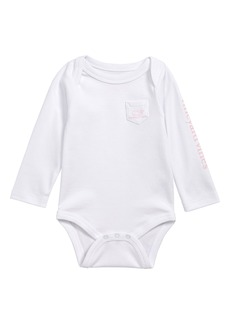 vineyard vines Vintage Whale Pocket Bodysuit (Baby)