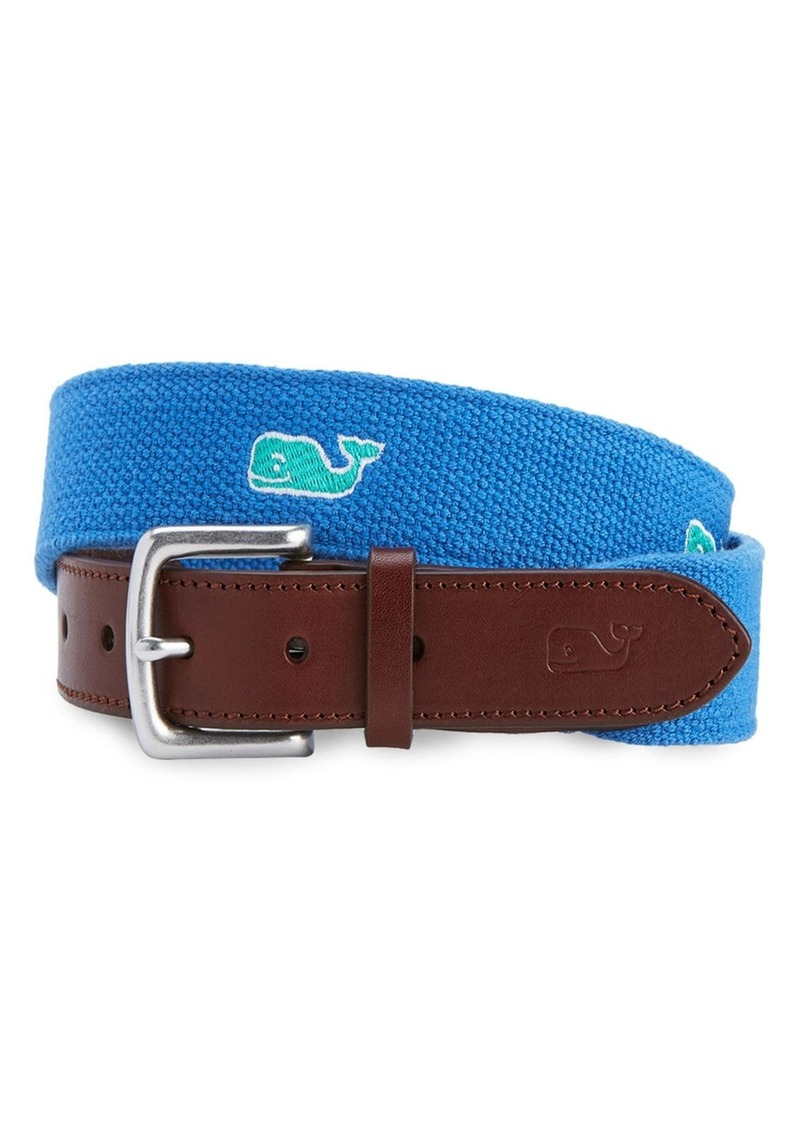 Vineyard Vines Whale Embroidered Belt