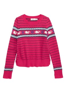 vineyard vines Whale Fair Isle Sweater (Toddler Girls)