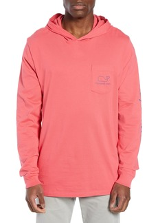 Vineyard Vines Whale Graphic Long Sleeve Hooded T-Shirt