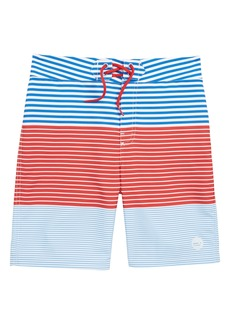 vineyard vines Whale Harbor Stripe Board Shorts (Big Boys)