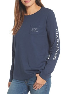 Vineyard Vines Whale Print Long Sleeve Tee