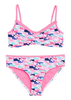 vineyard vines Whale Print Two-Piece Swimsuit (Toddler Girls)