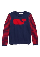 vineyard vines Whale Stripe Intarsia Sweater (Little Girls & Big Girls)