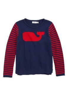 vineyard vines Whale Stripe Intarsia Sweater (Little Girls & Big Girls)