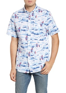 vineyard vines Whitecap Murray Classic Fit Short Sleeve Button-Down Shirt
