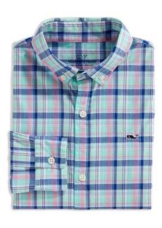 vineyard vines Williams Whale Plaid Button-Down Shirt (Big Boy)