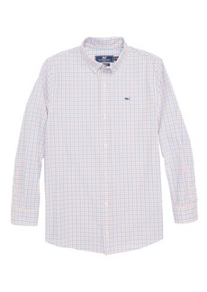 vineyard vines Winding Bay Gingham Woven Shirt (Big Boys)