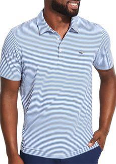 Vineyard Vines Winstead Sankaty Heathered Stripe Classic Fit Performance Polo Shirt