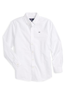 vineyard vines Woven Oxford Shirt (Big Boys)