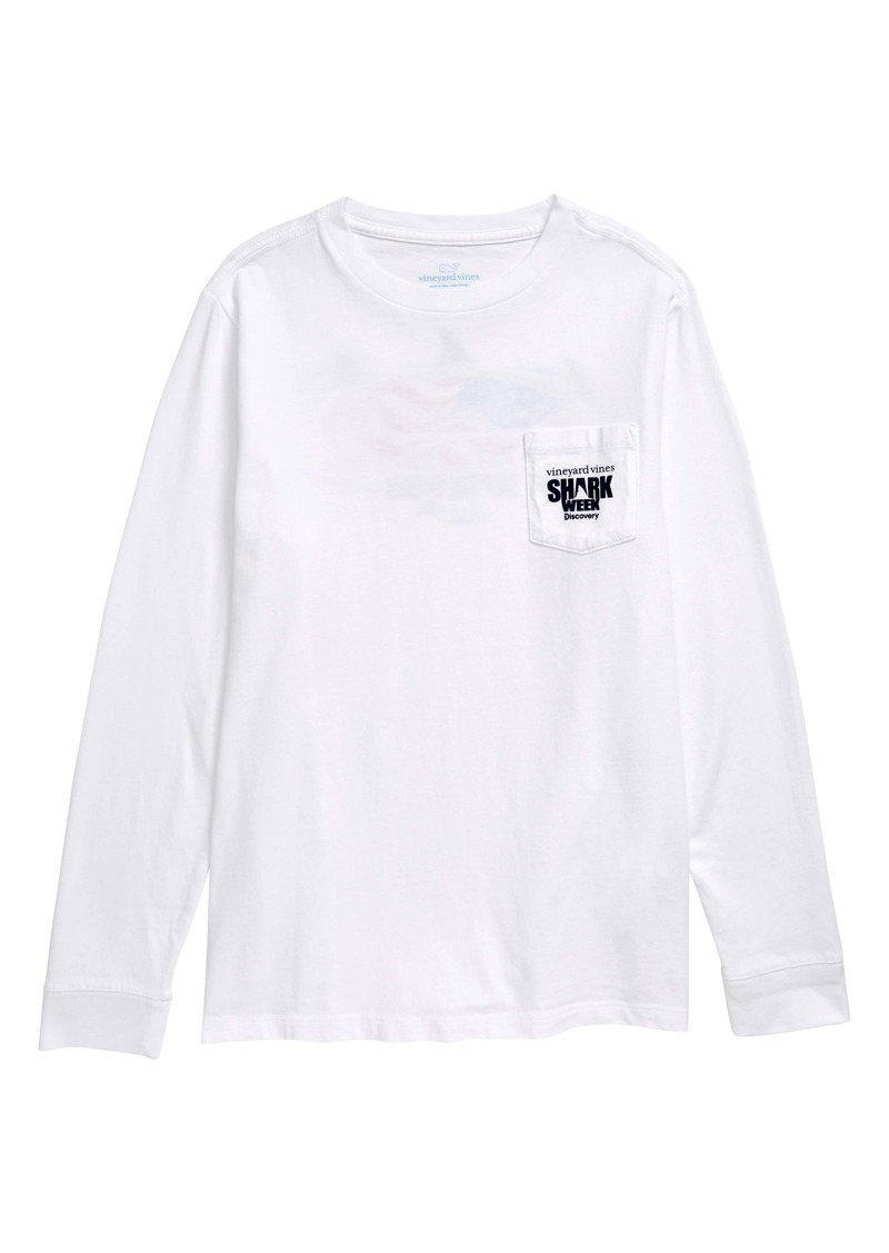 vineyard vines x Shark Week™ Long Sleeve T-Shirt (Toddler Boys & Little Boys)