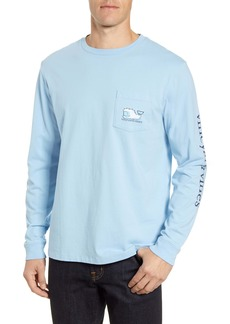 vineyard vines Yeti Whale Long Sleeve Pocket T-Shirt
