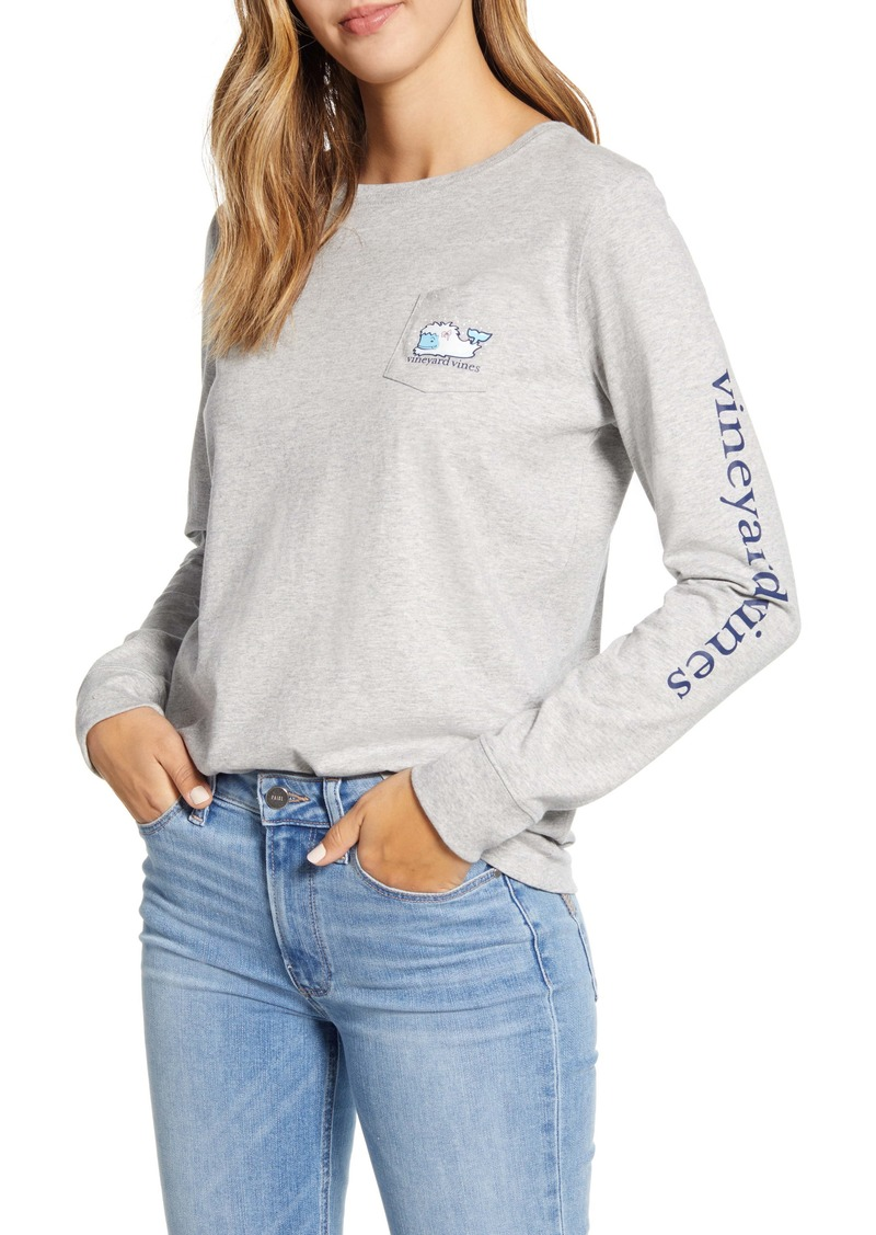 vineyard vines Yeti Whale Pocket Tee