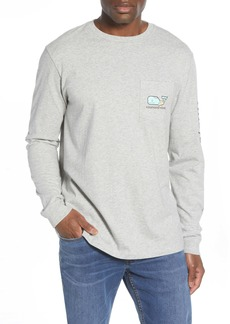 vineyard vines Zombie Whale Long Sleeve Pocket T-Shirt