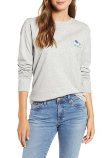 Vineyard Vines Zombie Whale Long Sleeve Pocket Tee