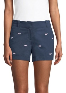 Vineyard Vines Whale Embroidered Chino Shorts