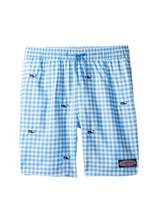 6c2e559f32 Vineyard Vines Whale Embroidery Gingham Chappy Trunks (Toddler/Little  Kids/Big Kids)