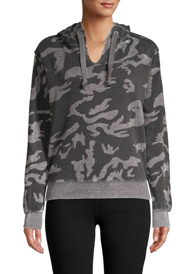 Vintage Havana Camouflage Cotton-Blend Fleece Hoodie