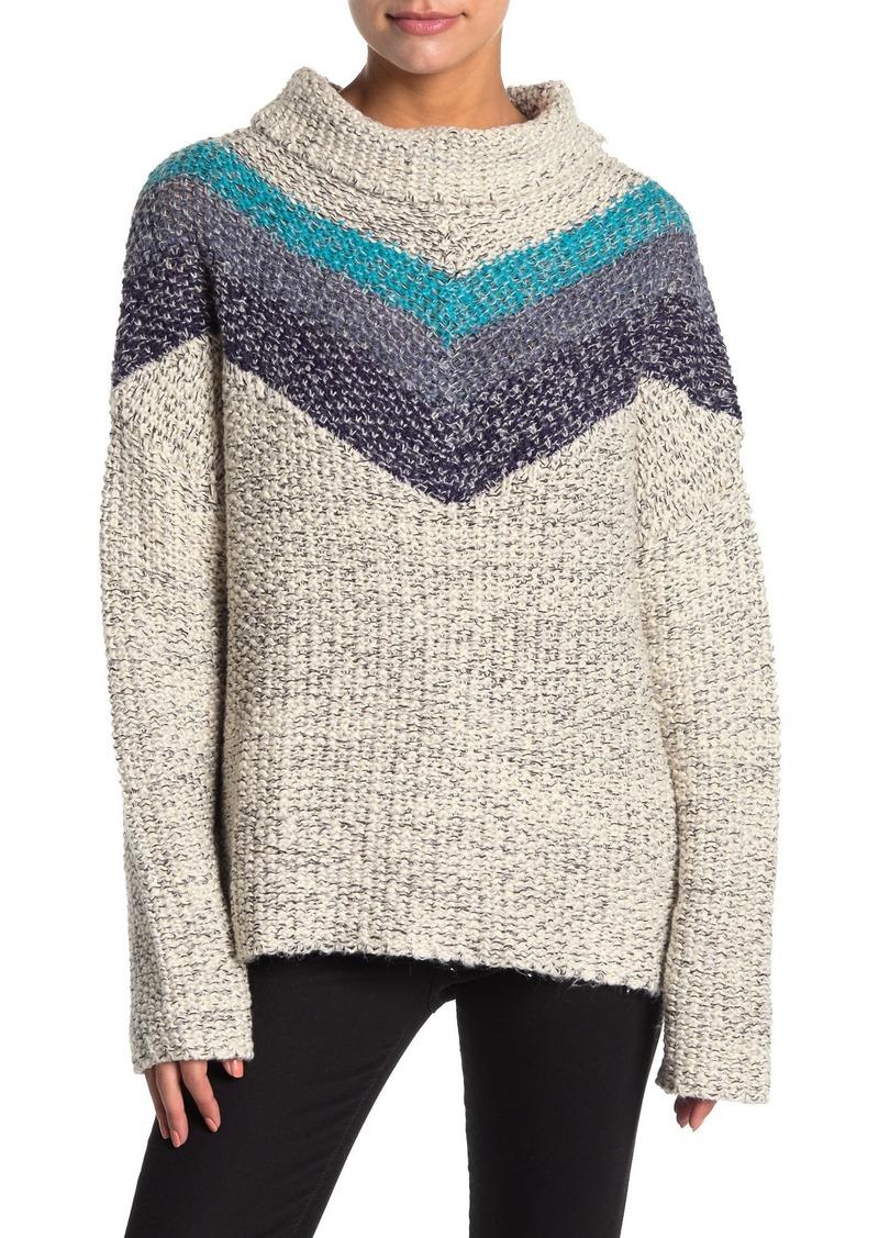 Vintage Havana Chevron Stripe Knit Sweater