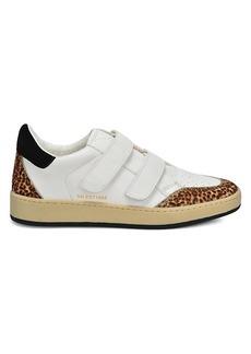 Vintage Havana Cici Leather Leopard-Print Calf Hair Sneakers