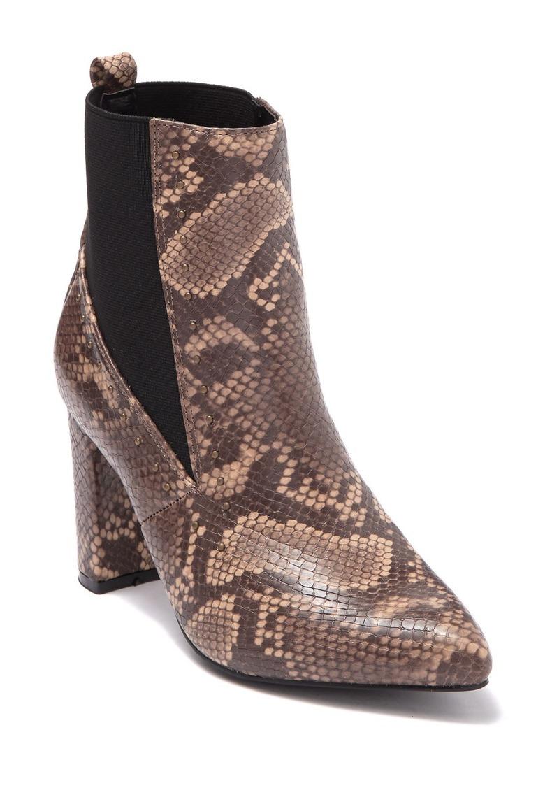 Vintage Havana Ellen Snakeskin Embossed Ankle Bootie