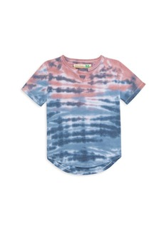 Vintage Havana Girl's Sunset Tie Dye Burnout French Terry T-Shirt