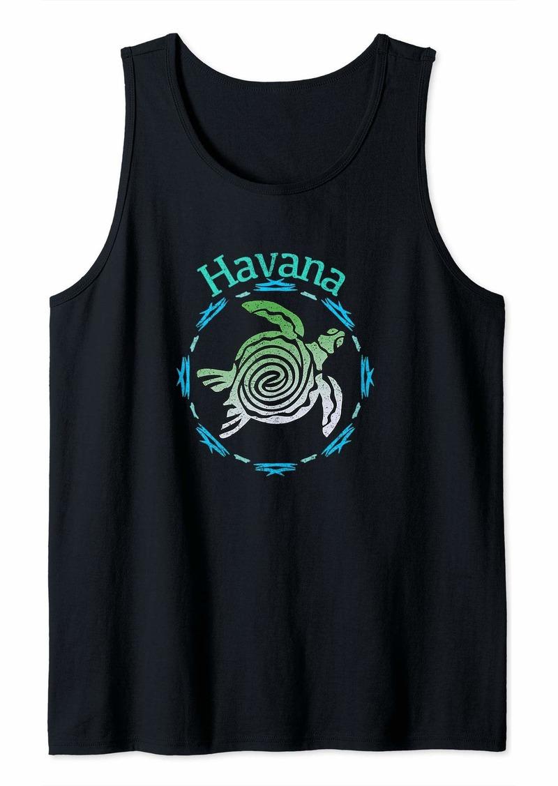 Vintage Havana Havana T-Shirt Vintage Tribal Turtle Gift Tank Top