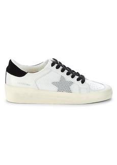 Vintage Havana Mesh Star Patch Platform Sneakers