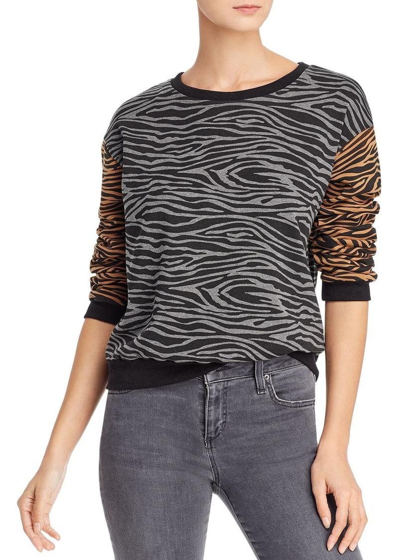 Vintage Havana Color-Block Zebra Print Sweatshirt - 100% Exclusive