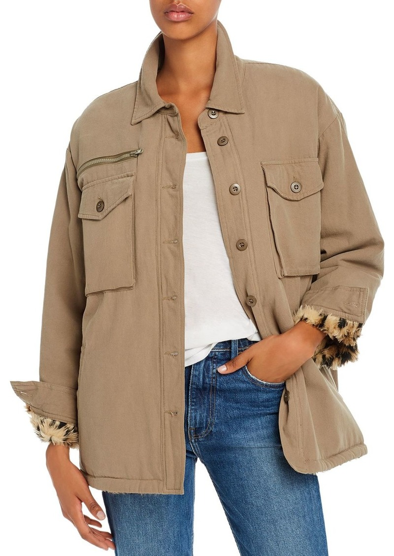 Vintage Havana Faux-Fur Lined Utility Jacket