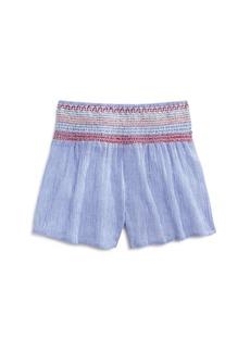 Vintage Havana Girls' Cotton Smocked Shorts - Big Kid