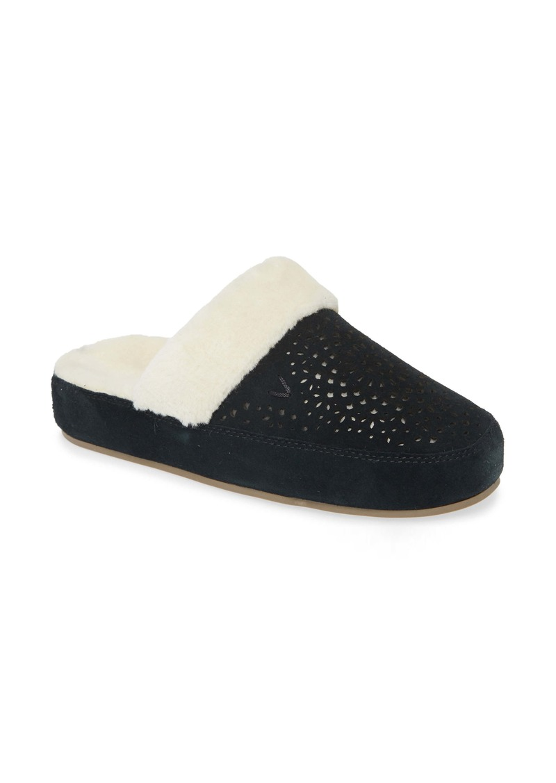 Vionic Leona Faux Fur Lined Slipper (Women)