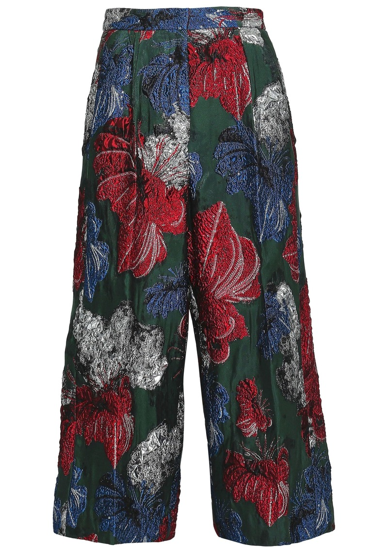 Vionnet Woman Brocade Culottes Forest Green