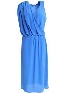 Vionnet Woman Draped Silk-crepe Dress Light Blue