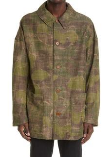 VISVIM Men's Whiteoak Camo Gabardine Overcoat