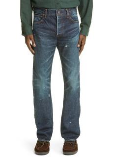 VISVIM Social Sculpture 01 Distressed Slim Jeans